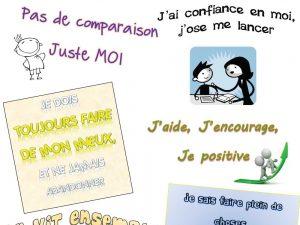 Affichage gestion de classe : La positive attitude
