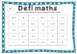 atelier defi maths