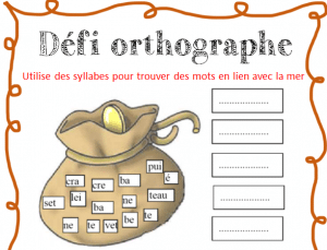 atelier orthographe