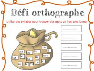 atelier orthographe