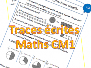 Maths CM1 : Traces écrites