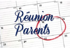 Réunion de rentrée avec les parents