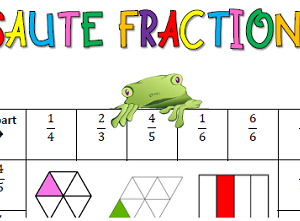 jeux maths CM1 CM2 : les fractions