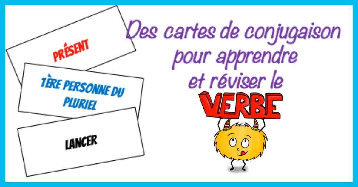 Materiel Conjugaison Des Cartes Pour Apprendre Et Reviser Les Verbes Profissime Ressources Pour La Classe