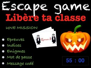 Activité avant les vacances : escape game cm2 Halloween