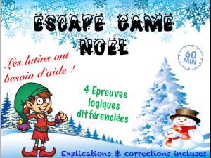 Activité Noël : Escape game CE2 CM1 CM2
