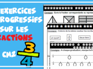 Exercices CM1 CM2 : les fractions