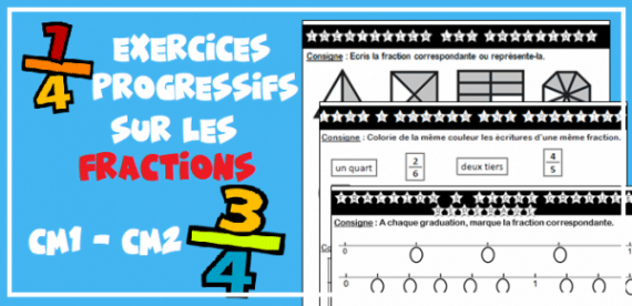 Exercices CM1 CM2 : les fractions - Profissime - Ressources pour la classe