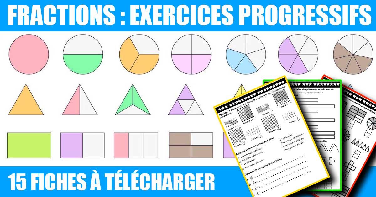 Exercices CM1 CM2 : les fractions - Profissime ...