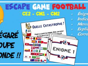 Escape Game CE2 CM1 CM2 thème Coupe du Monde de football 2018