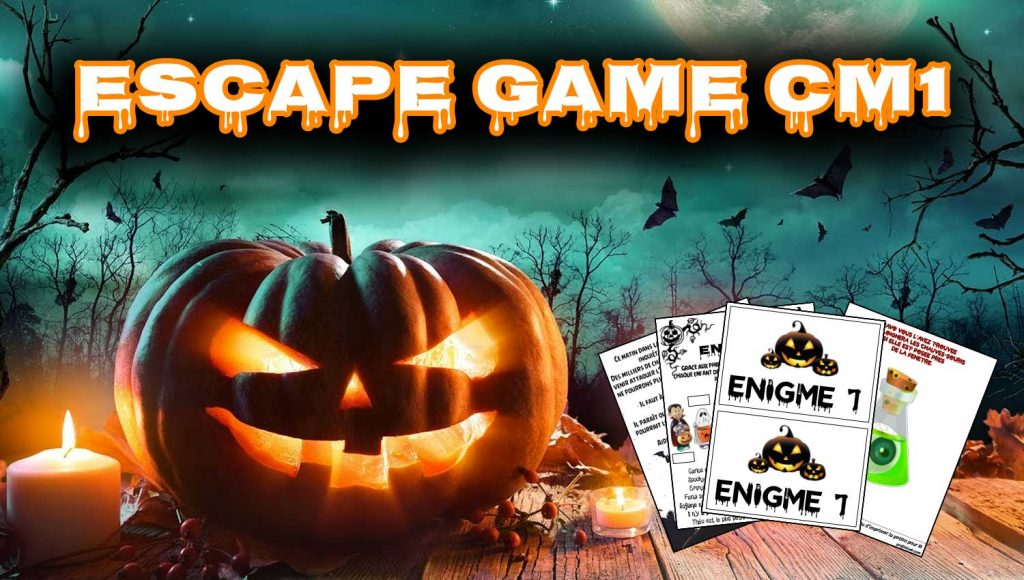 escape game halloween cm1