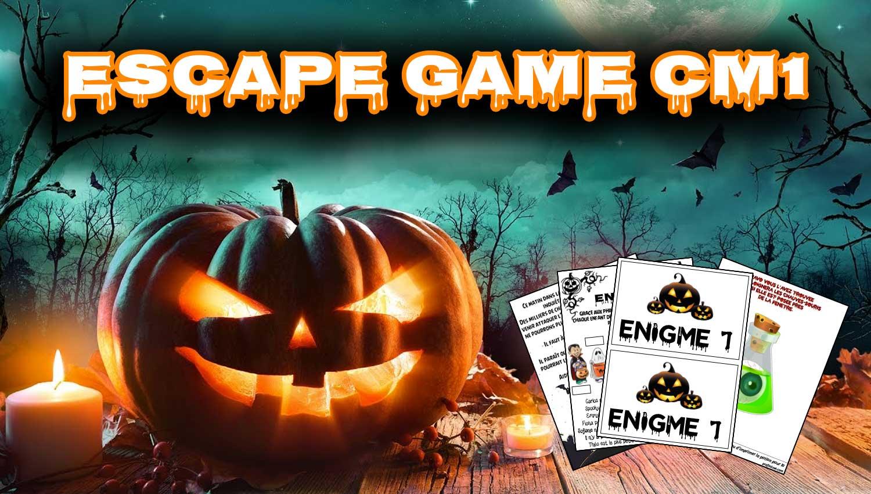 escape game halloween cm1